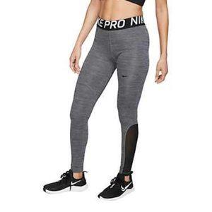 Nike Women's Pro Tights In Grey-Sz.XL